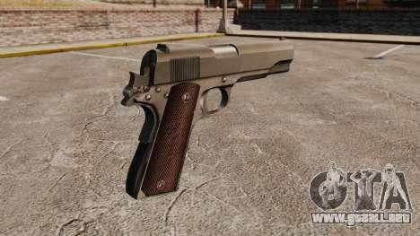 V5 pistola Colt M1911 para GTA 4 segundos de pantalla
