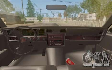 Chevrolet Caprice 1989 Station Wagon para GTA San Andreas vista hacia atrás