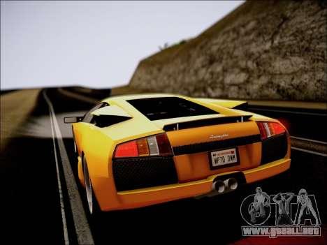 2005 Lamborghini Murciélago para visión interna GTA San Andreas