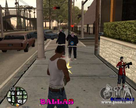 HUD The Ballas By Santiago para GTA San Andreas