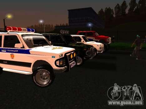 VAZ 212140 policía para GTA San Andreas left