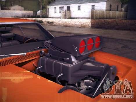 Dodge Charger RT V2 para GTA San Andreas vista hacia atrás