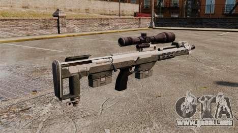 Rifle de francotirador DSR para GTA 4 segundos de pantalla
