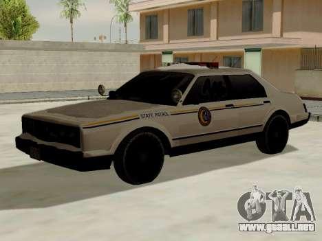 Norte Yanton policía Esperanto de GTA 5 para GTA San Andreas