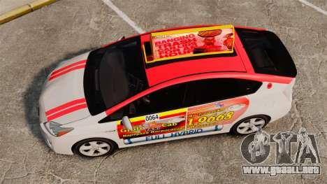 Toyota Prius 2011 Warsaw Taxi v4 para GTA 4 visión correcta