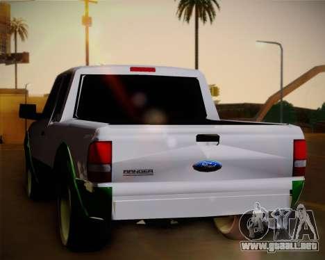 Ford Ranger 2005 para la visión correcta GTA San Andreas