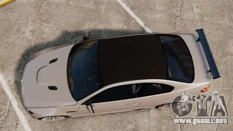 BMW M3 E92 GTS 2010 para GTA 4 visión correcta