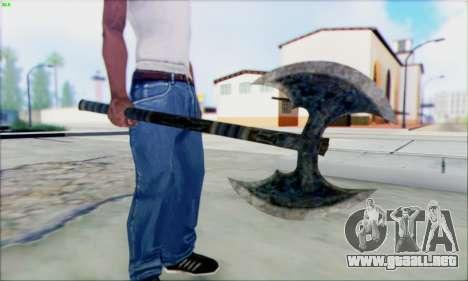 Fragua de hacha para GTA San Andreas segunda pantalla