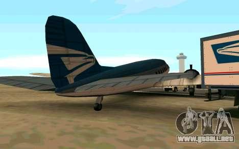 Un avión de Estados Unidos para GTA San Andreas vista posterior izquierda