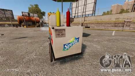 Nuevas texturas de carros de perros calientes para GTA 4 sexto de pantalla