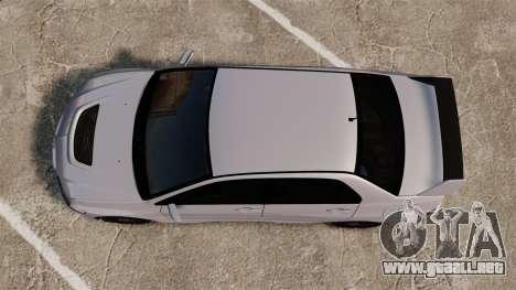 Mitsubitsi Lancer MR Evolution VIII 2004 Stock para GTA 4 vista hacia atrás