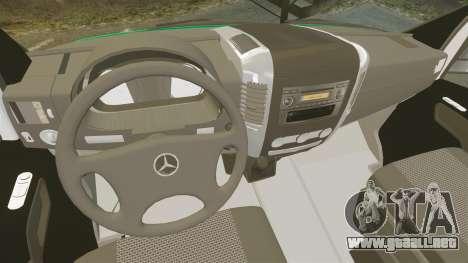 Mercedes-Benz Sprinter Australian Ambulance ELS para GTA 4 vista hacia atrás
