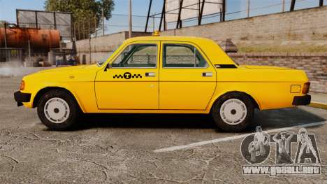 Gaz-31029 taxi para GTA 4 left