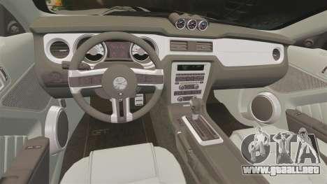 Ford Mustang 2012 Boss 302 Fiery Horse para GTA 4 vista lateral