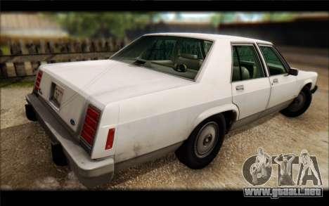 Ford LTD Crown Victoria 1987 para visión interna GTA San Andreas