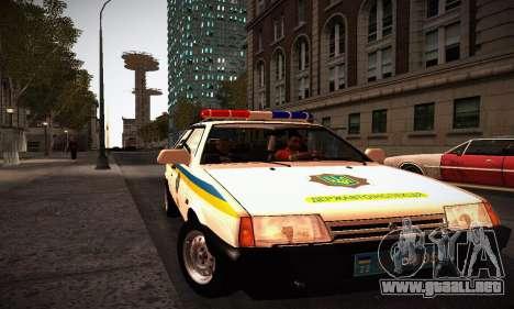 VAZ 2108 Ucrania REC para la visión correcta GTA San Andreas