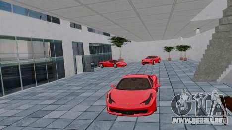 Salón del automóvil de Ferrari para GTA 4 quinta pantalla