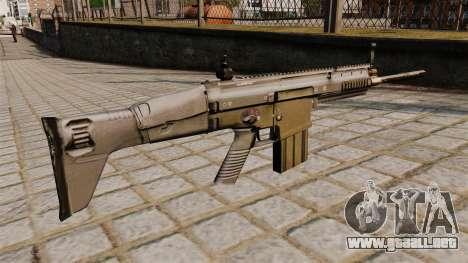Rifle FN SCAR-H para GTA 4 segundos de pantalla