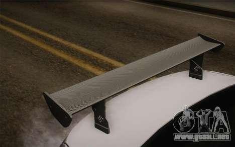 BMW M5 2012 para GTA San Andreas vista hacia atrás