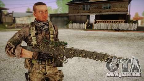 Sniper M-14 With Camouflage Grid para GTA San Andreas sucesivamente de pantalla