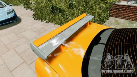 Nissan Skyline R34 GT-R NFS Underground para GTA 4 vista hacia atrás