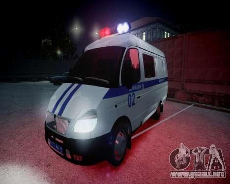 Policía gacela 2705 para GTA 4 vista superior