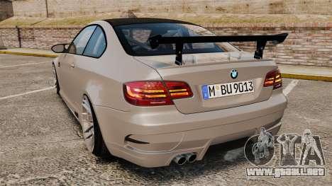 BMW M3 E92 GTS 2010 para GTA 4 Vista posterior izquierda