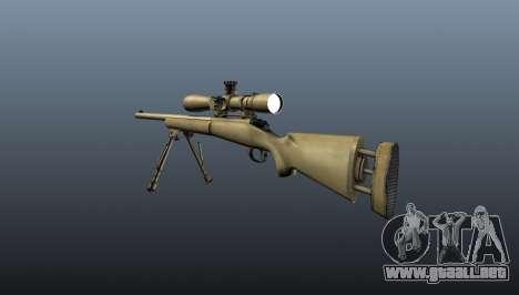 El rifle de francotirador M24 para GTA 4 segundos de pantalla