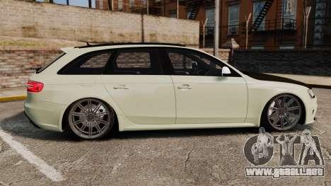 Audi RS4 Avant VVS-CV4 2013 para GTA 4 left