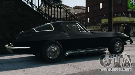 Chevrolet Corvette Stingray 427 1967 para GTA 4 left