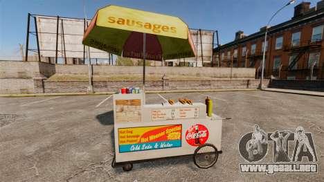 Nuevas texturas de carros de perros calientes para GTA 4 quinta pantalla