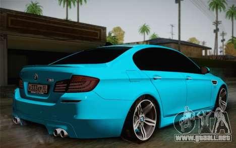 BMW M5 F10 v1 para GTA San Andreas left