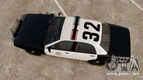 GTA V Police Cruiser [ELS] para GTA 4 visión correcta