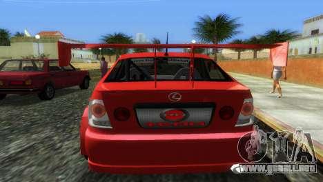 Lexus IS200 para GTA Vice City vista lateral izquierdo