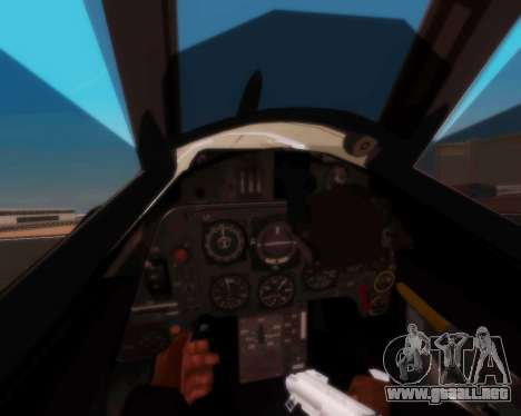 Bf-109 G10 para GTA San Andreas vista hacia atrás