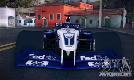 BMW Williams F1 para la vista superior GTA San Andreas