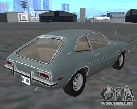 Ford Pinto 1973 para GTA San Andreas vista hacia atrás