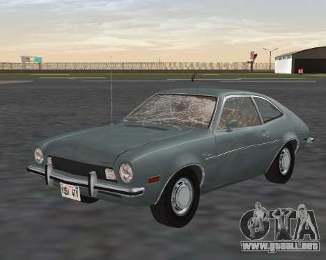 Ford Pinto 1973 para vista inferior GTA San Andreas