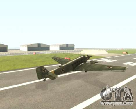 Junkers Ju-52 para la visión correcta GTA San Andreas