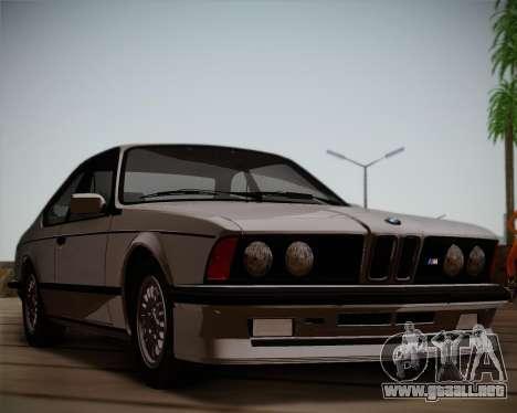BMW E24 M635 1984 para GTA San Andreas left