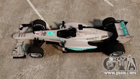 Mercedes AMG F1 W04 v5 para GTA 4 visión correcta