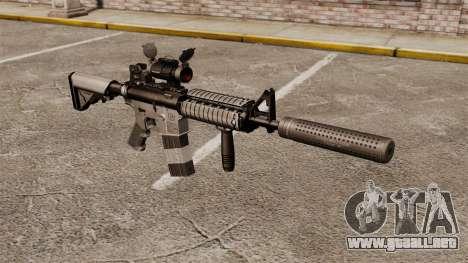 Carabina M4 con silenciador v2 para GTA 4