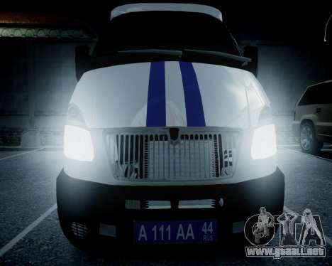 Policía gacela 2705 para GTA 4 visión correcta