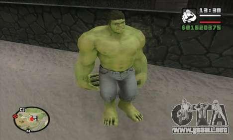 Hulk para GTA San Andreas sucesivamente de pantalla