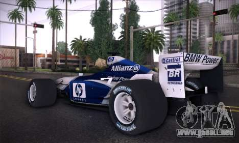 BMW Williams F1 para GTA San Andreas left