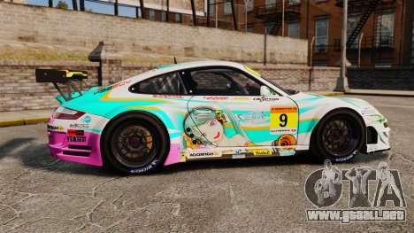 Porsche GT3 RSR 2008 Hatsune Miku para GTA 4 left