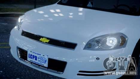 Chevy Impala Unmarked 2010 para GTA 4 visión correcta