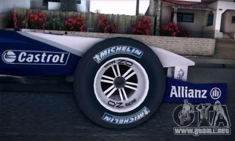 BMW Williams F1 para la visión correcta GTA San Andreas
