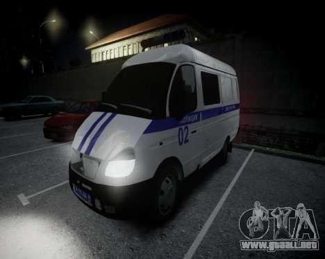 Policía gacela 2705 para GTA 4