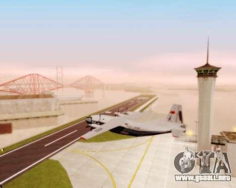 El an-12 Aeroflot para visión interna GTA San Andreas